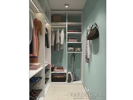 minimalistic Dressing room by variatika