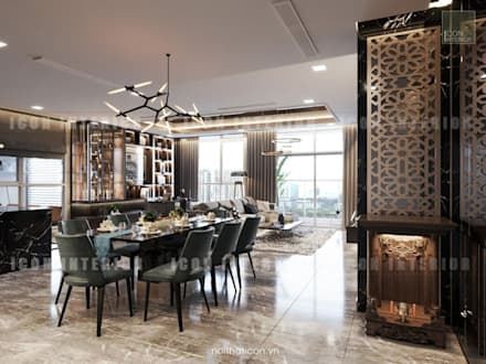 Phong cách hiện đại trong thiết kế nội thất căn hộ Vinhomes Central Park:  Cửa ra vào by ICON INTERIOR