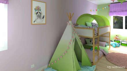 Une nurserie chez mamie: Chambre d'enfant de style de style Moderne par MJ Intérieurs