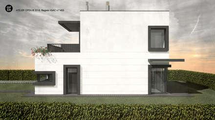 Casas campestres de estilo  por ATELIER OPEN ® - Arquitetura e Engenharia