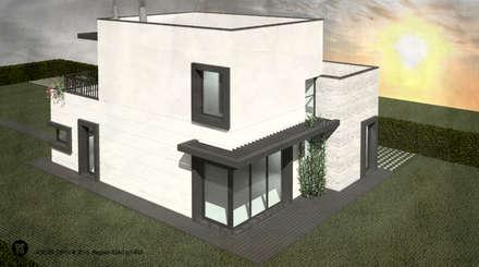 Moradia Bicesse (Cascais): Casas unifamilares  por ATELIER OPEN ® - Arquitetura e Engenharia