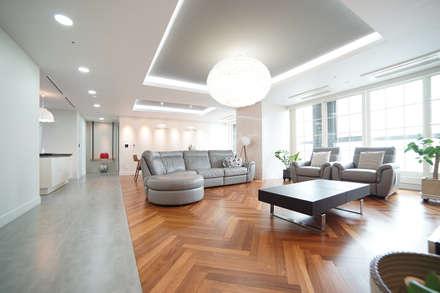 modern Living room by 제시카디자인그룹