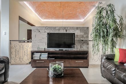 eclectic Media room by ARQDUO