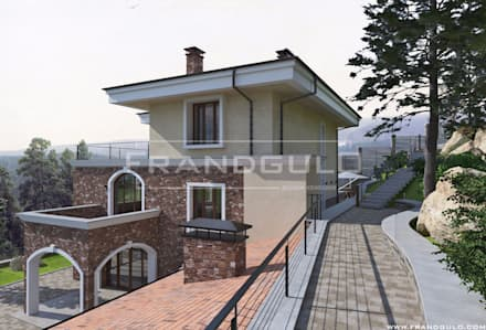 Экстерьер частного дома в классическом стиле: Загородные дома в . Автор – Frandgulo