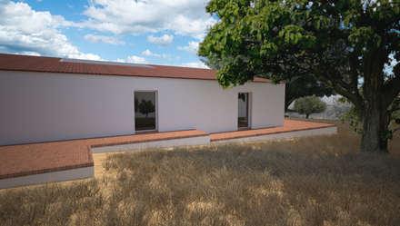 fachada poente: Casas de campo  por André Pintão