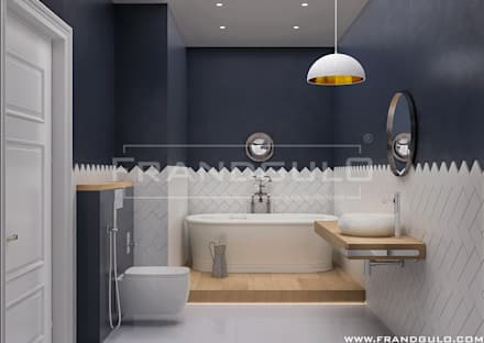 scandinavian Bathroom by Frandgulo