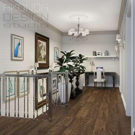 Частный дом под Санкт-Петербургом (п. Агалатово): Лестницы в . Автор – AKONDA  design studio