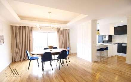 Remodelação de apartamento: Salas de jantar clássicas por Stylish Mood Lda.