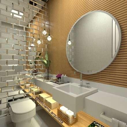 LAVABO: Banheiros modernos por Letícia Saldanha Arquitetura