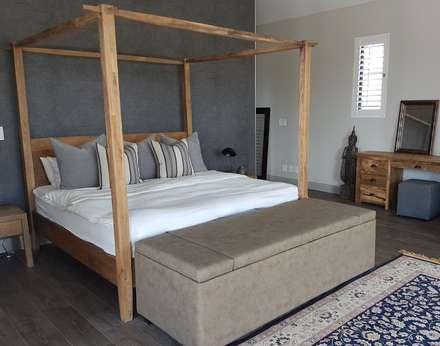 Copper & Grey Tones: modern Bedroom by Sophistique Interiors