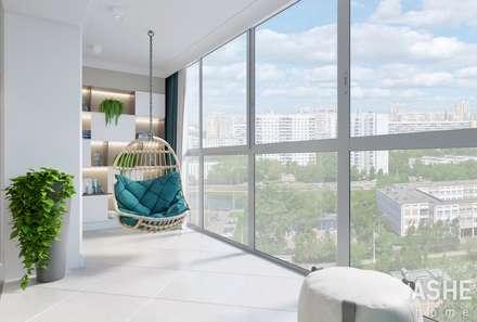Дизайн квартиры в Уфе: Лестницы в . Автор – Студия авторского дизайна ASHE Home