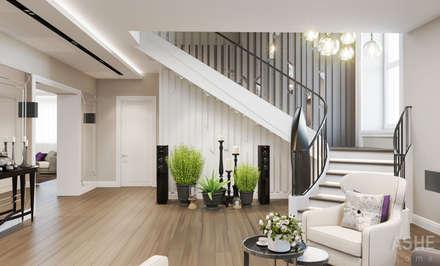 Коттедж Раевка: Лестницы в . Автор – Студия авторского дизайна ASHE Home