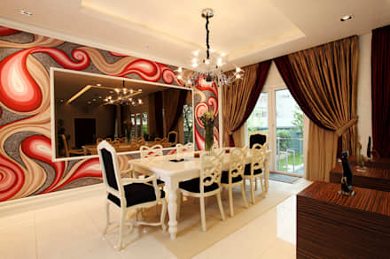 Raflessia: classic Dining room by Hatch Interior Studio Sdn Bhd