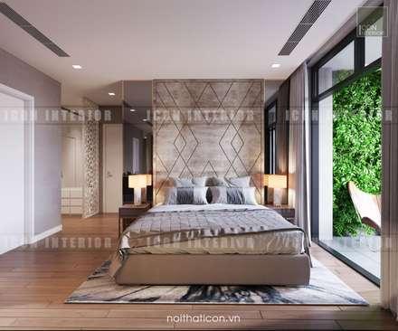 Nội thất Châu Âu hiện đại trong căn hộ Vinhomes Central Park:  Phòng ngủ by ICON INTERIOR