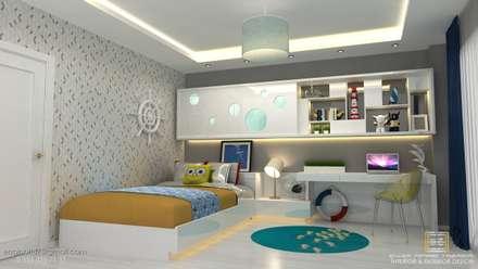 EN+SA MİMARİ TASARIM – örnek daire: klasik tarz tarz Çocuk Odası