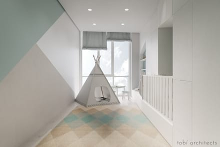 WHITE BREATH: minimalistische Kinderzimmer von Tobi Architects