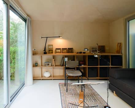 Tuinhuis - Interieur: moderne Studeerkamer/kantoor door Unknown Architects