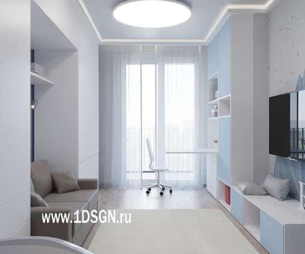 Dormitorios juveniles  de estilo  por Дизайн студия 'Дизайнер интерьера № 1'