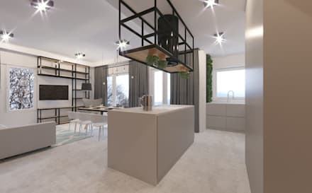 Kitchen: minimalistic Kitchen by Fibi Interiors