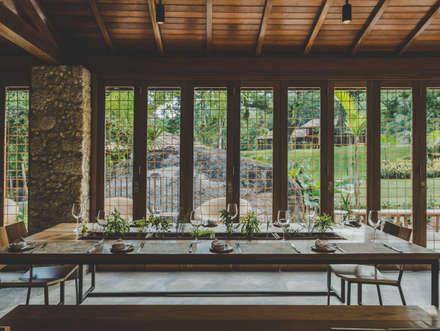 Restaurantes de estilo  por Flavia Machado Arquitetura