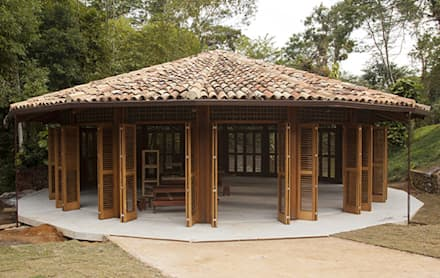 Salones de conferencias de estilo  por Flavia Machado Arquitetura