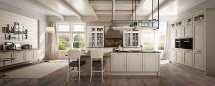 Cucina Dolcevita – International style – Canapa assoluto: Cucina in stile in stile Classico di Ferrari Arredo & Design