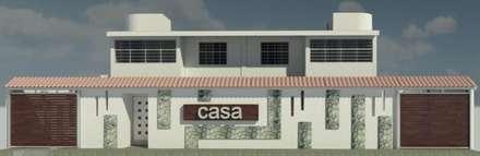 FACHADA PRINCIPAL: Casas de estilo  por ESTUDIO KULUMAK
