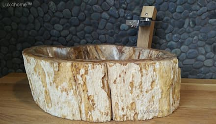 petrified wood sink: colonial Bathroom by Lux4home™ Indonesia
