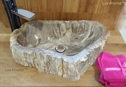 petrified wood sink: eclectic Bathroom by Lux4home™ Indonesia