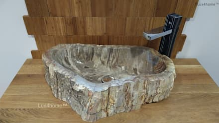 Petrified wood vessel sink - wash basin: colonial Bathroom by Lux4home™ Indonesia