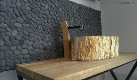 Petrified wood vessel sink - wash basin: eclectic Bathroom by Lux4home™ Indonesia