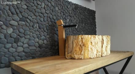petrified wood wash basin: industrial Bathroom by Lux4home™ Indonesia
