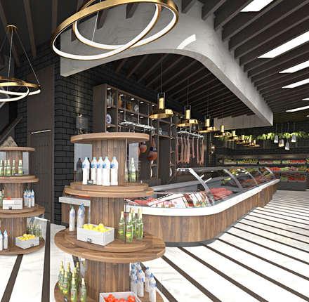 Galer as y espacios comerciales de estilo r stico - Espacios comerciales arquitectura ...