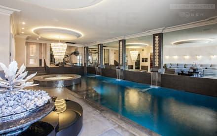 underground leisure suite: modern Pool by The Design Practice by UBER
