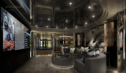 Underground media area: modern Media room by The Design Practice by UBER