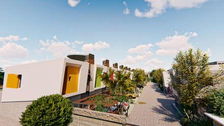 Vista aerea ingreso - 3: Condominios de estilo  por Módulo 3 arquitectura