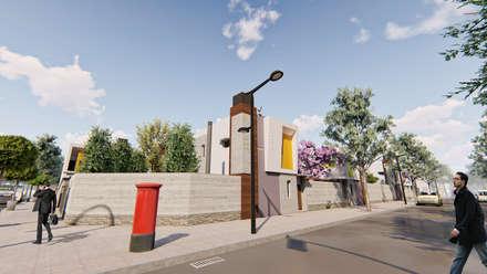 Vista de la esquina - 1: Condominios de estilo  por Módulo 3 arquitectura