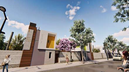 Viviendas con salida a la calle - Fachada lateral - 1: Condominios de estilo  por Módulo 3 arquitectura