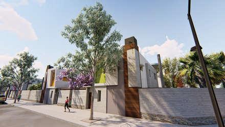 Viviendas con salida a la calle - Fachada lateral - 3: Condominios de estilo  por Módulo 3 arquitectura
