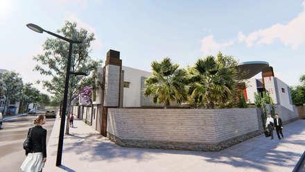 Vista de la esquina - 2: Condominios de estilo  por Módulo 3 arquitectura