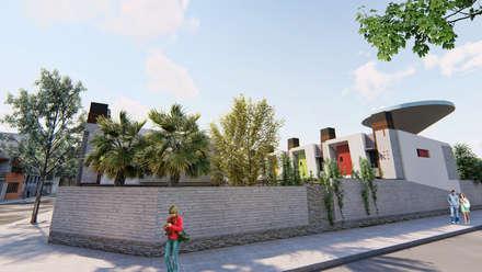 Vista de la esquina - 3: Condominios de estilo  por Módulo 3 arquitectura