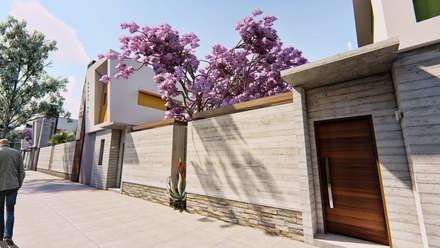 Viviendas con salida a la calle - Fachada lateral - 4: Condominios de estilo  por Módulo 3 arquitectura