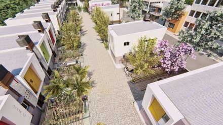 Vista aerea calle del condominio: Condominios de estilo  por Módulo 3 arquitectura