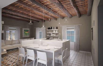 Rivisitazione apartamento primo 900: Cucina in stile in stile Classico di Arch. Francesco Antoniazza - Verbania Como