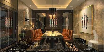 VA Residence: modern Dining room by Language of Design