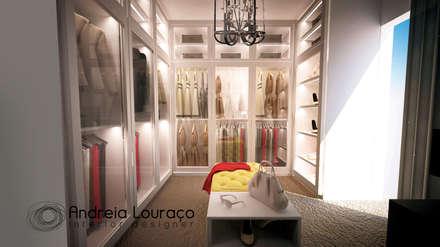 modern Dressing room by Andreia Louraço - Designer de Interiores (Contacto: atelier.andreialouraco@gmail.com)