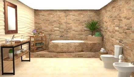 rustic Bathroom by Estudio Carmesí. Diseño y Decoración