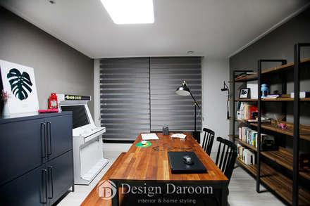 수유 두산위브 아파트 34py 서재: Design Daroom 디자인다룸의  서재 & 사무실