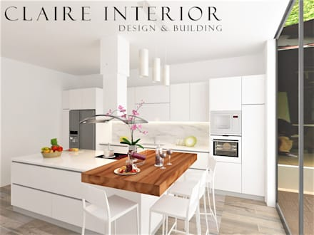 Built-in kitchens by Claire Interior Design & Building