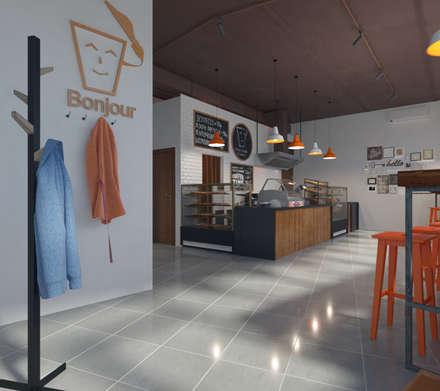 Кафе Мой Кофе: Коммерческие помещения в . Автор – Anastasia Yakovleva design studio